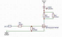 Napięcie w stanie niskim na wyjściu mikrokontrolera, a wysterowanie MOSFET