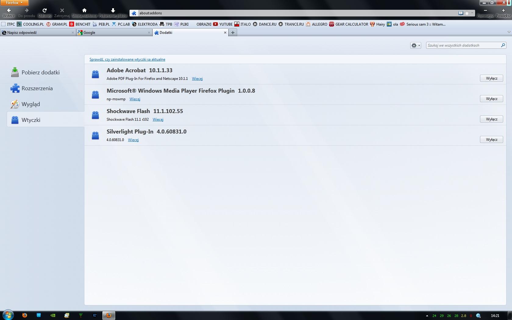 Mozilla Firefox - nie otwiera okien po aktualizacji