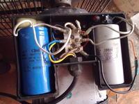 Kompresor 100l 2 tłokowy na 230V 2200W, nie chce startować