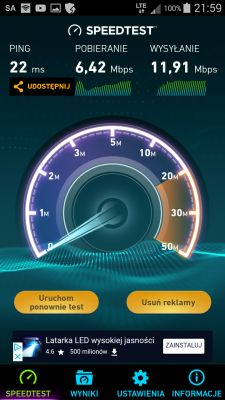 Wpływ sprzętu na prędkość pobierania w LTE