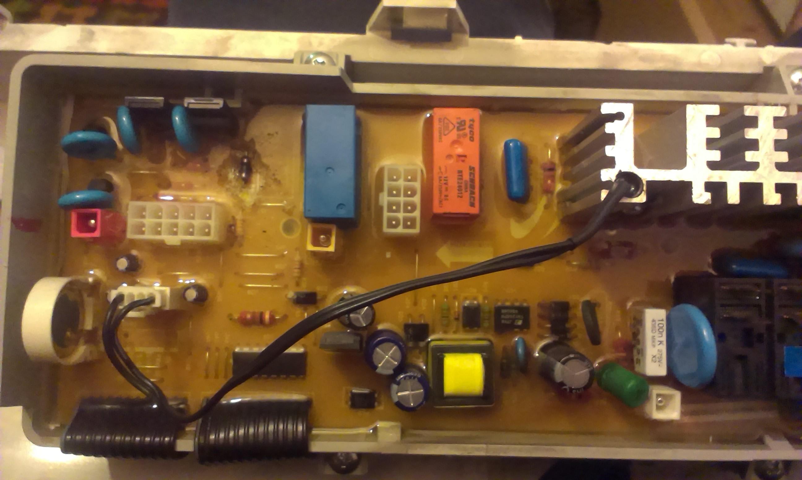 Pralka WF-B1262 programator - oznaczenia na rezystorze R42