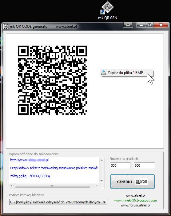 Program do generowania kod�w QR na PC