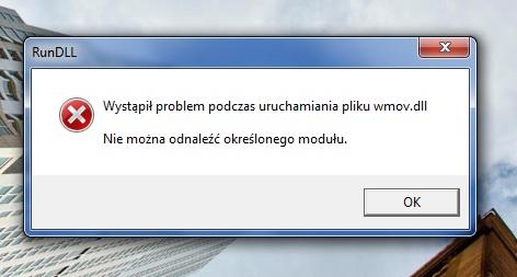 RunDLL - B��d wmov.dll