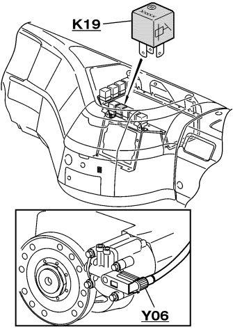 Volvo fh 440 - Zaw�r blokady skrzyni bieg�w