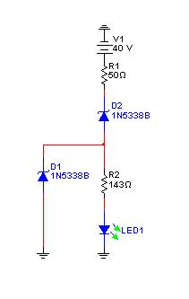 Wskaznik napiecia z przedzialu od 0 do 85 V na 3 LED.