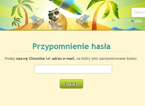 Wyprowadzono fragment bazy danych u�ytkownik�w portalu Chomikuj.pl