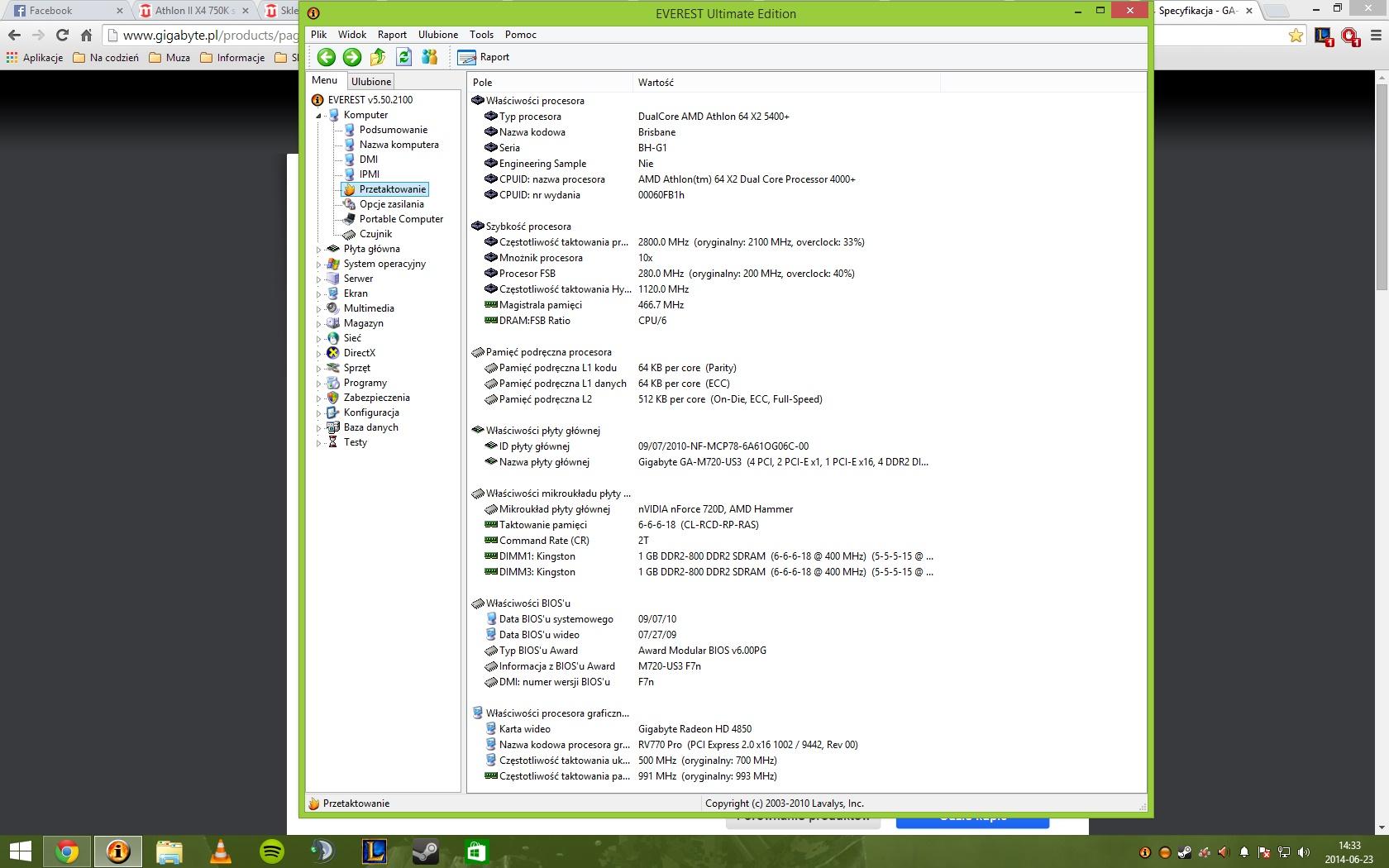 Rozbudowa komputera do 800-900 z�