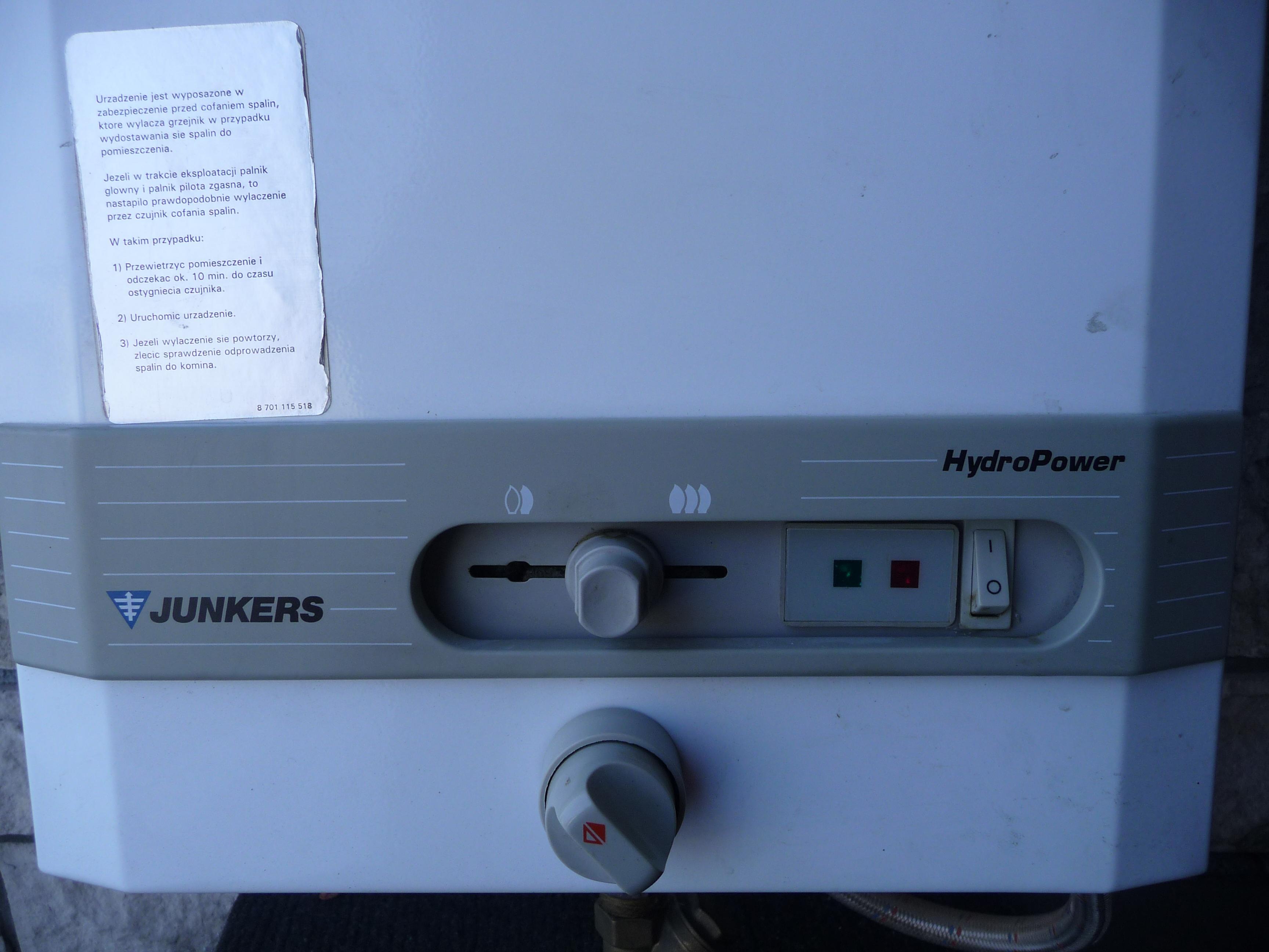 [Sprzedam] Gazowy grzejnik wody przep�ywowej Junkers