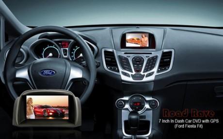 Road Rave - samochodowy odtwarzacz DVD z systemem nawigacji GPS dla Ford Fiesta