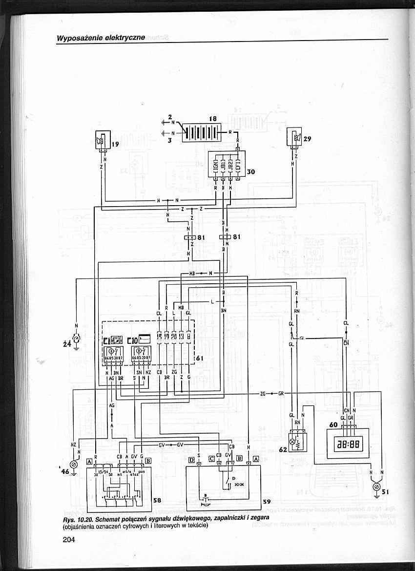 Fiat Palio 1.2 8V - Po��czenia przeka�nika.