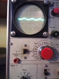 Pomiar Ph, wzmacniacz na OP-AMP, na wyjściu przebieg prostokątny