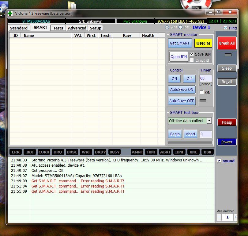 Błąd danych CRC na dysku MAXTOR 500GB SATA, odzysk danych