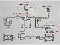 Instalacja elektryczna do halogenów dalekosiężnych w samochodzie