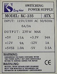 King Star model: KC-235 PCB: KL200A2YY wartości elementów?