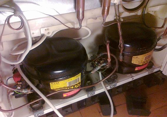 AEG SANTO 3510 KG - Lod�wko-zamra�arka po pod��czeniu zasilania leci ogie�