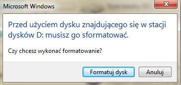 Windows chce formatowa� dysk - jak odzyska� dane?
