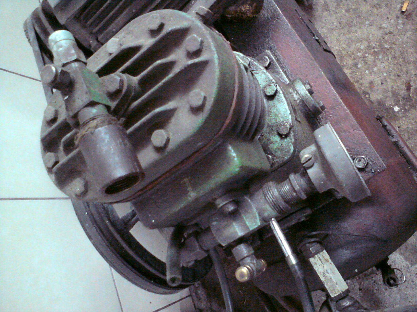 Spr�arka Bitzer - Budowa spr�arki powietrza z kompresora Bitzer.