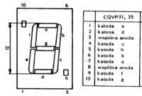 zegar elektroniczny na CQPV35