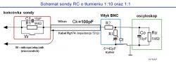 sonda oscyloskopowa 6100-uszkodzony rezystor R2
