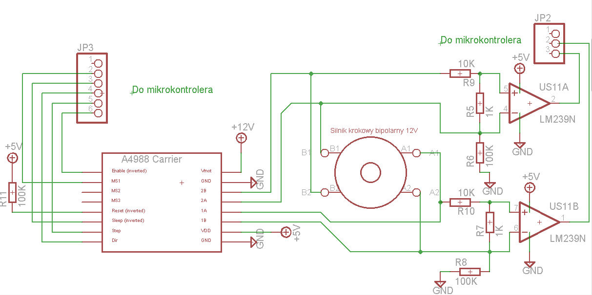 Elektroniczny enkoder do silnika krokowego - dzia�anie komparatora