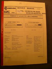 Samsung VPX-31R - Naprawa sprzęgła i konserwacja