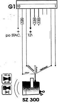 Syrena DOG DEST SZ300 = potrzebny opis wyprowadzeń