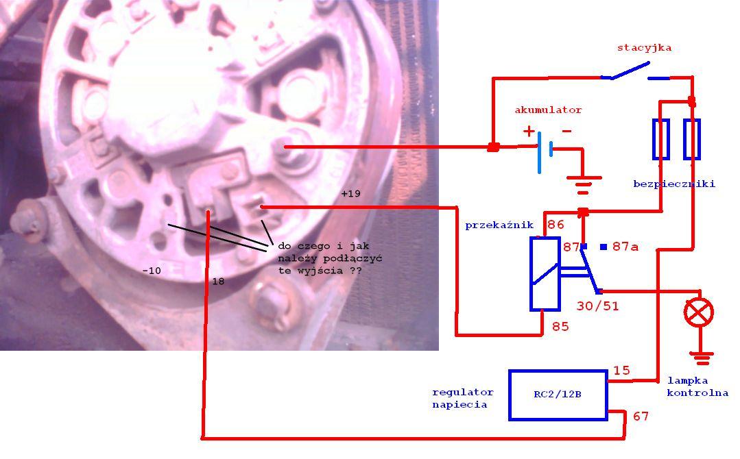 jak podłączyć dany alternator