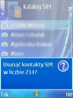 Kasowanie numerów telefonów z karty sim!
