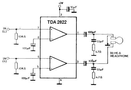 Regulacja głośności w tda 2822