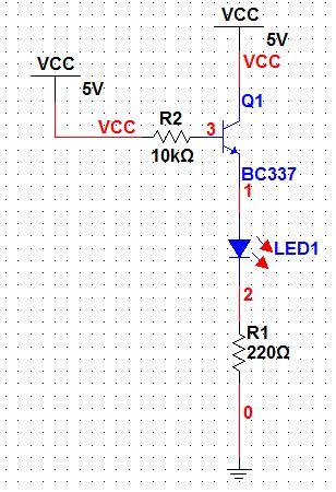 Matryca LED 20x20 - schemat, Atmega16