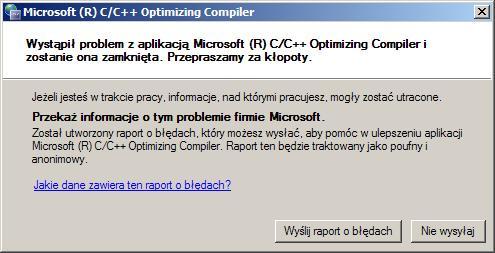 [C++] Microsoft Visual Studio 2005 - Powtarzające się elemen