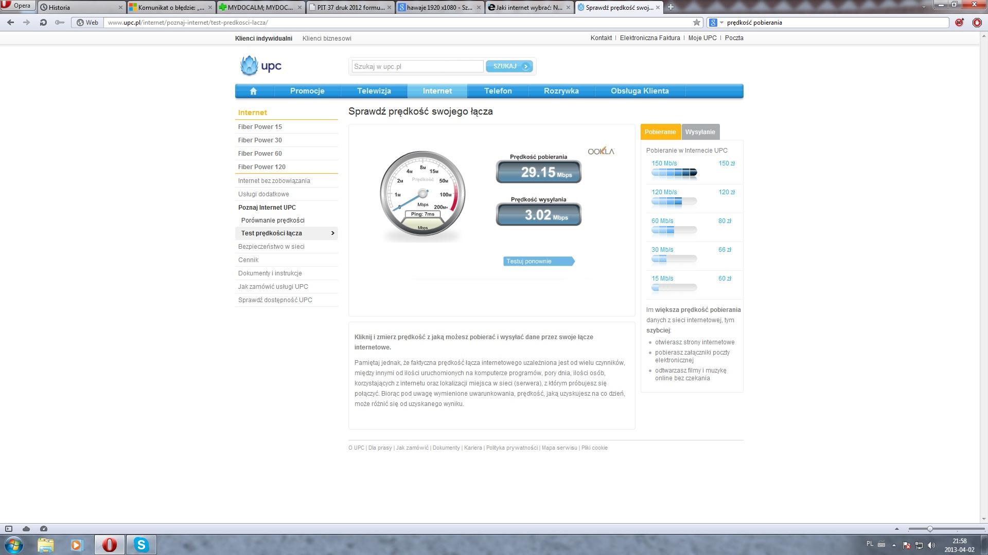 Jaki internet wybra�: Netia, Neostrada, UPC