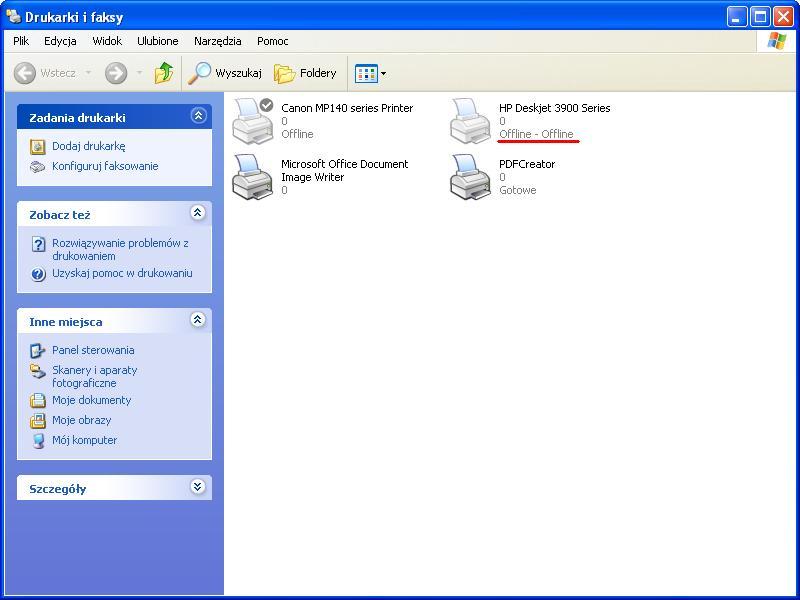 HP Deskjet 394, zasilacz 0950-4230 samoczynne przej�cie w tryb offline