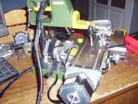 Minifrezarka CNC - przeróbka ręcznej frezarki na CNC