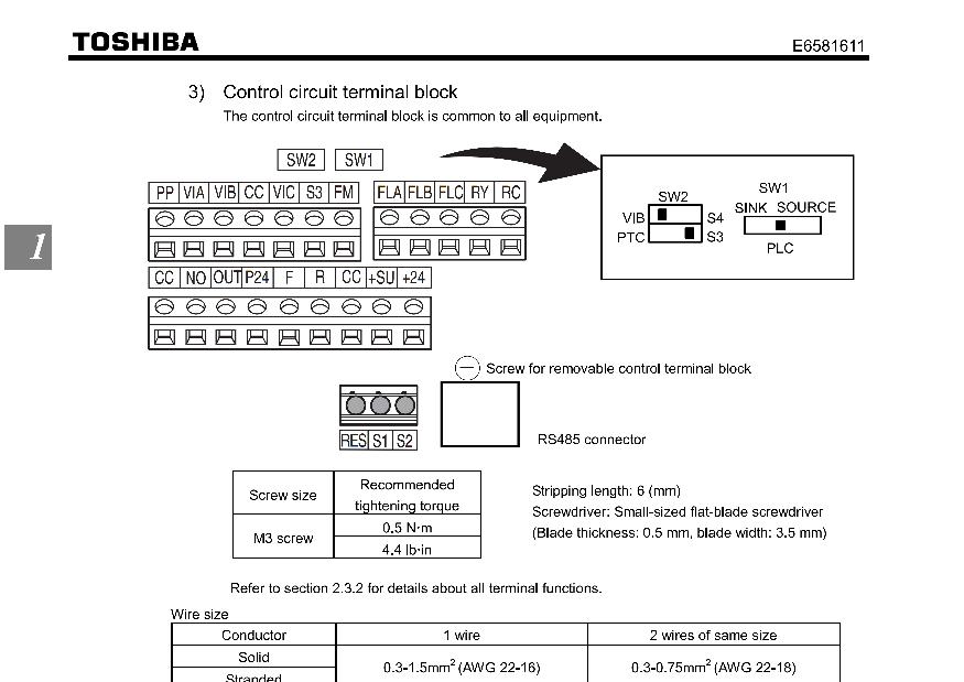 S15 Toshiba Inverter Wiring Diagrams Wiring Diagram