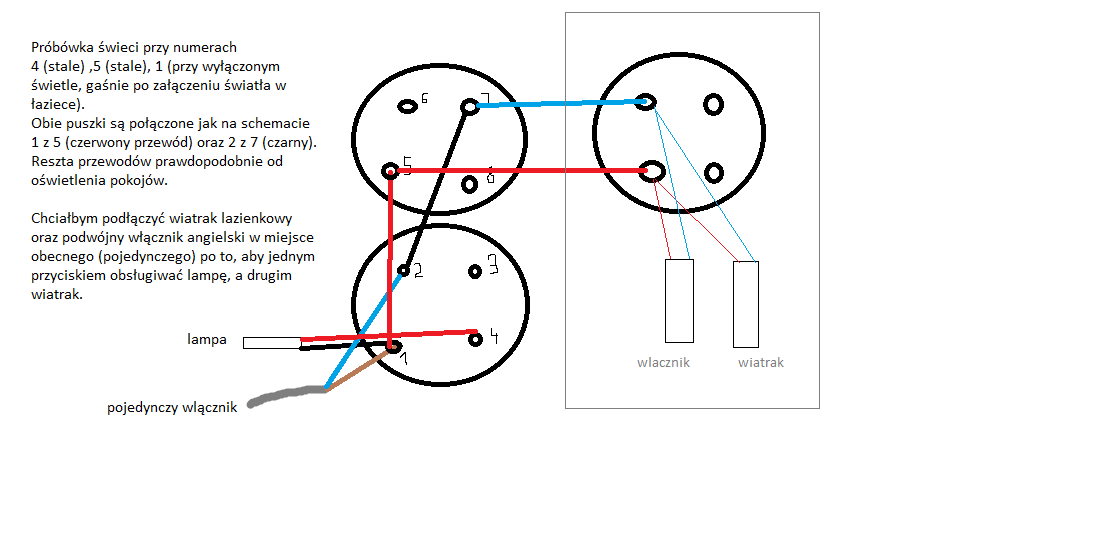 Podłączenie Wentylatora łazienkowego Pod Podwójny Włącznik