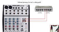 M AUDIO Delta 44 + Mixer UB802+Mic Pojemno�ciowy(JAKIE KABLE Z MIKSERA DO KARTY)