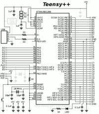 AT90USB1286 Zasilanie z 3.3V