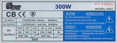 Sirius Computers model: 300X czyli (Codegen) ATX 2.03 nie startuje?