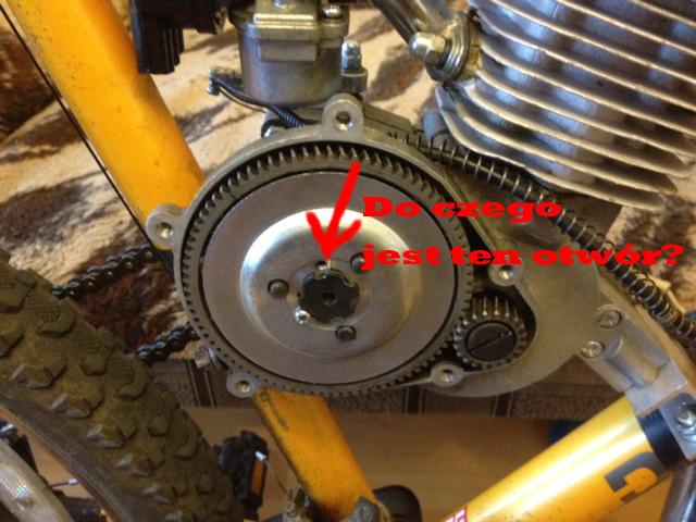 Silnik spalinowy do roweru - dziwne d�wi�ki (sprz�g�o?)