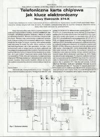 Zestaw NE 374-K Telefoniczna karta chipowa. Pod��czenie przeka�nika