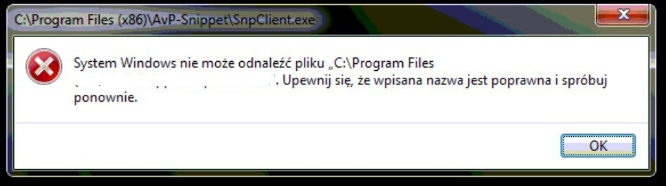 System windows nie mo�e odnale�� pliku! :(