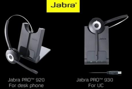 Zestawy s�uchawek bezprzewodowych do system�w audio: Jabra PRO 920 i PRO 930