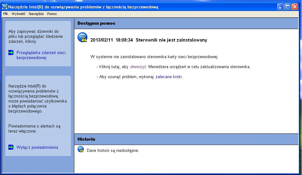 Dell Inspiron 6400 - Brak WiFi - nie �wieci si� dioda