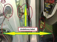Passat B5 1997r.- podłączenie centralnego zamka do autoalarm