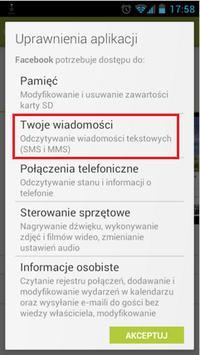 Aplikacja Facebook dla Android od teraz ma dost�p do wiadomo�ci SMS/MMS