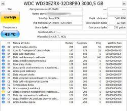 Dysk WD30EZRZ 3TB - rosnący smart C5.