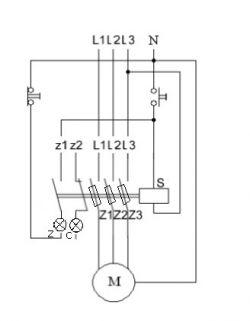 Projektowanie schematu sterowania silnika trójfazowego z podtrzymaniem