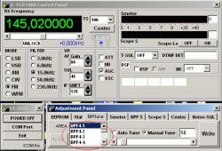 - Poziom sygnału VHF z anteny
