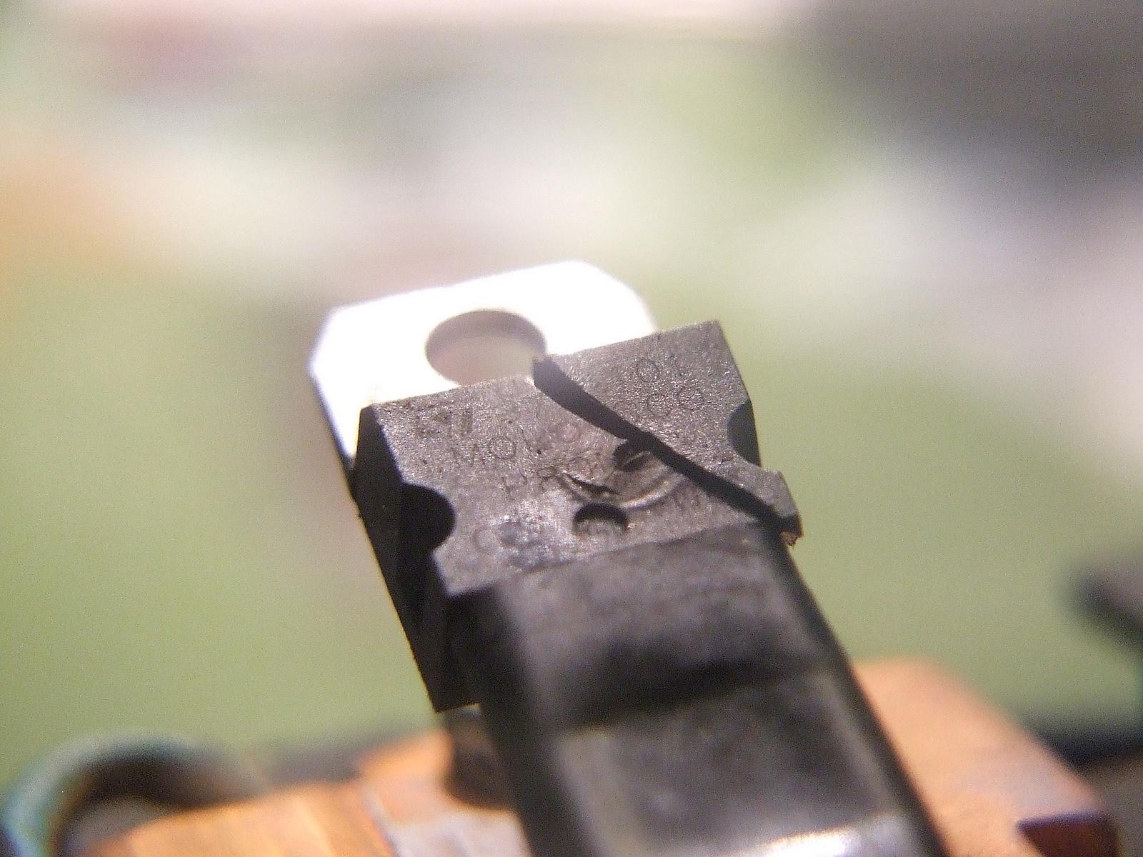 Wkr�tarka Metabo BST 12 - uszkodzony tranzystor potencjometu